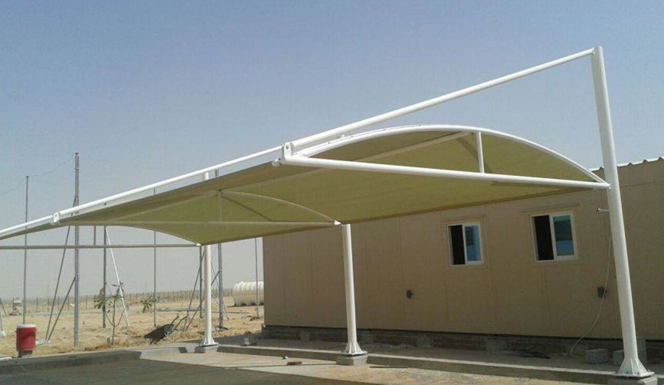 cantilever arch car parking shades in dubai