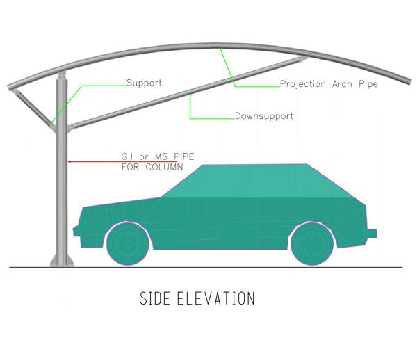single pole type1 arch shades in dubai