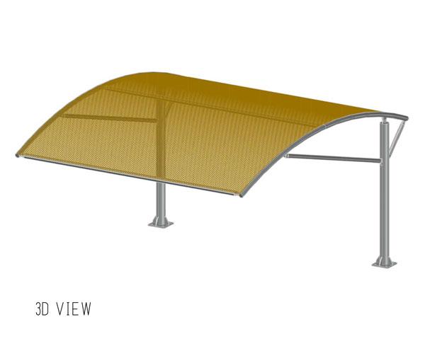 single pole type1 arch shades