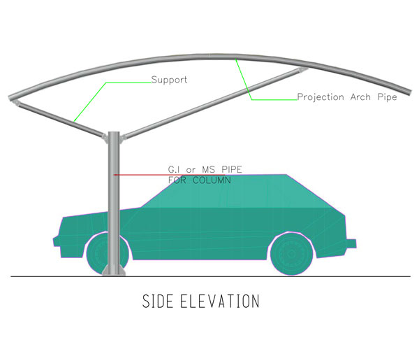 single pole type2 arch shades in dubai