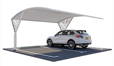 single pole arch car parking shades in dubai