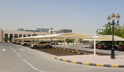 car parking double hanging shades in uae
