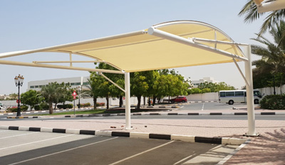 car parking double hanging shades in dubai