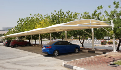 car parking double hanging shades in sharjah