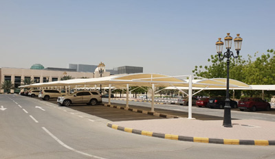 car parking double hanging shades in ajman