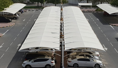 car parking double hanging shade suppliers in uae