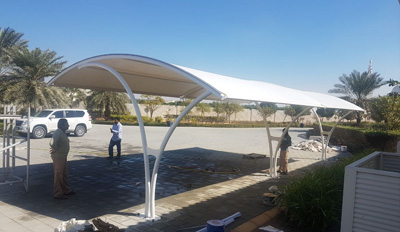 arch car parking shades in uae