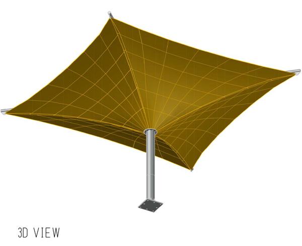 inverted umbrella car parking shades