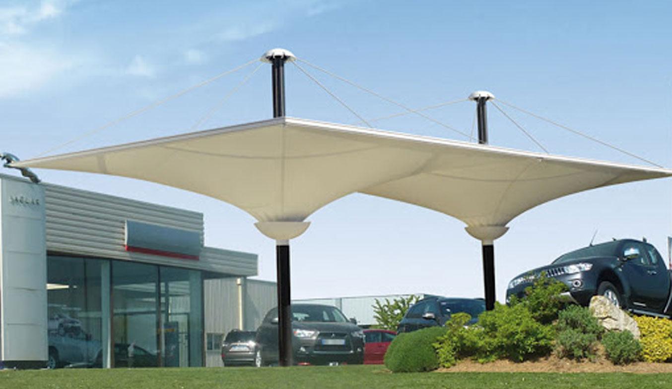 car parking inverted umbrella shades in dubai