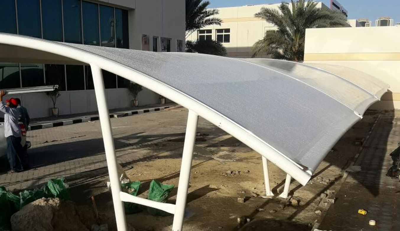 car parking arch shades suppliers in uae