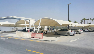 double pole arch car parking shades in uae