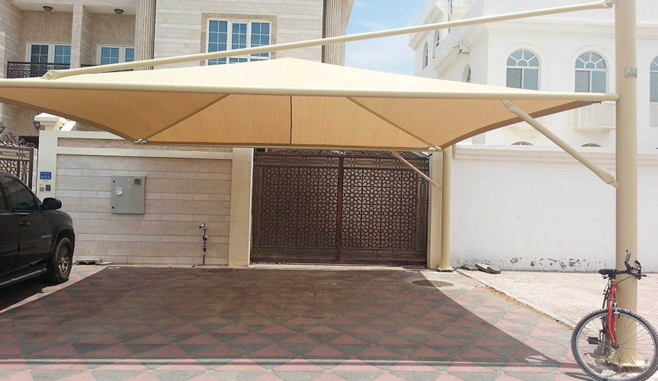 cantliver pyramid car shades suppliers in uae