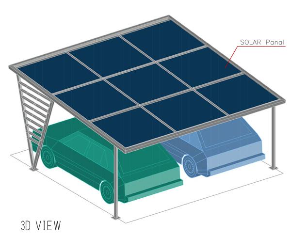 solar parking shades