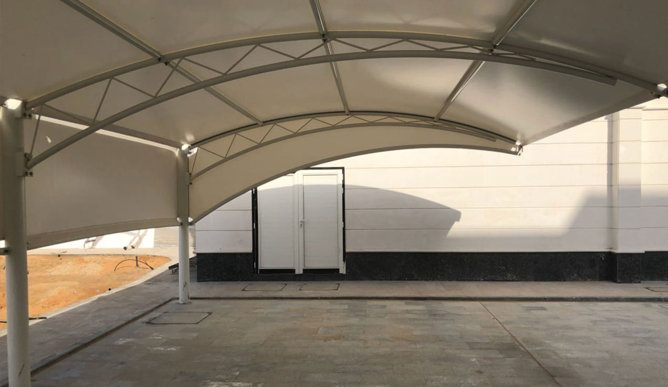 truss type car parking shades