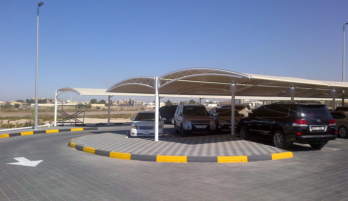 car parking truss shades in uae