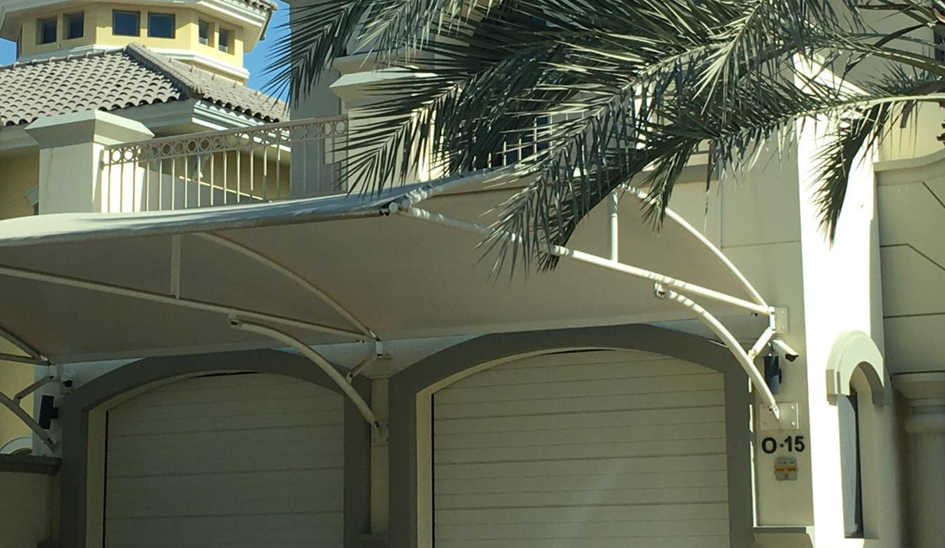 arch type car parking shades suppliers in uae