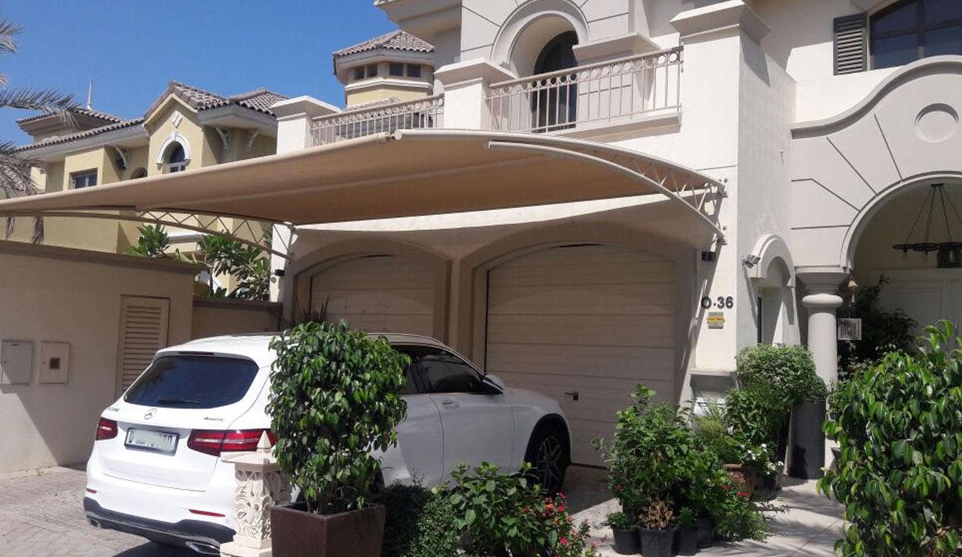 car parking truss shades suppliers in dubai