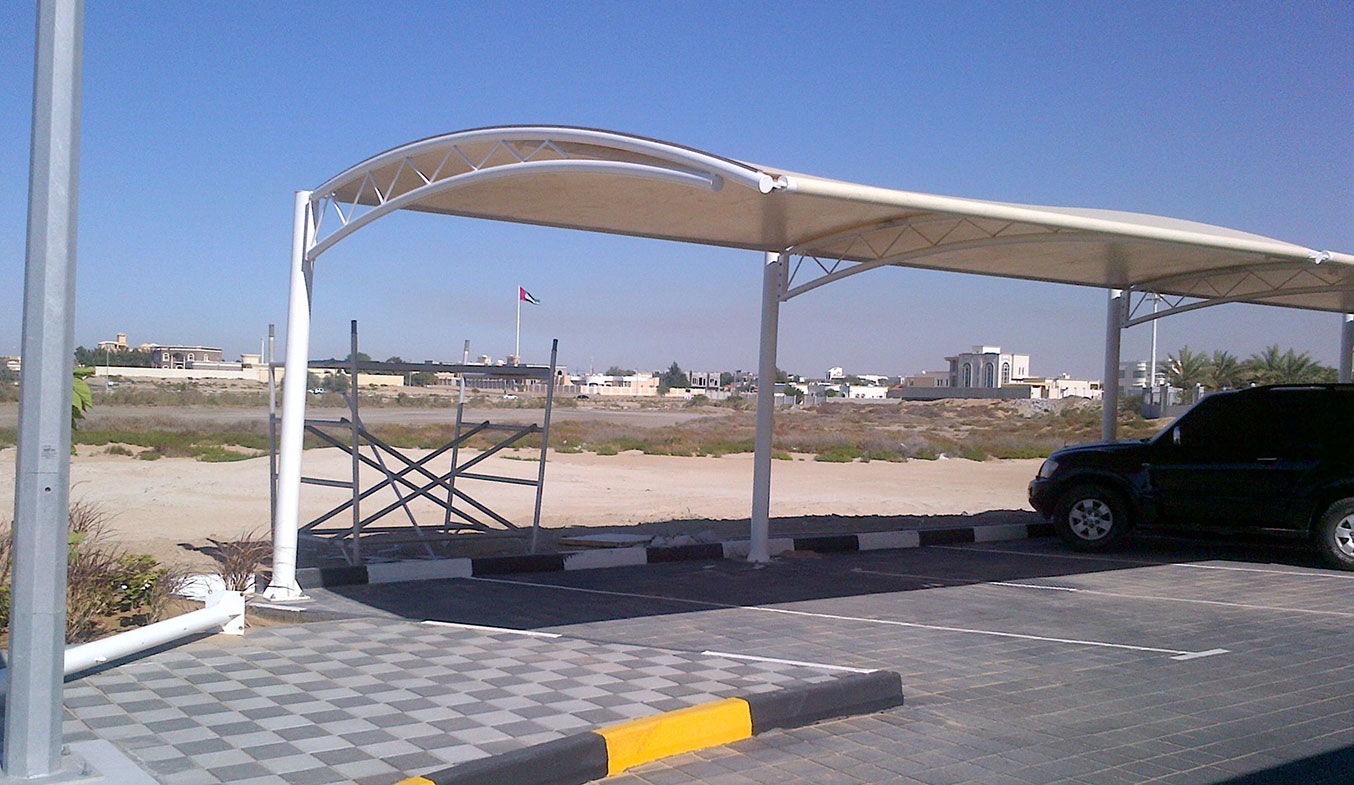 car parking truss shades suppliers in uae