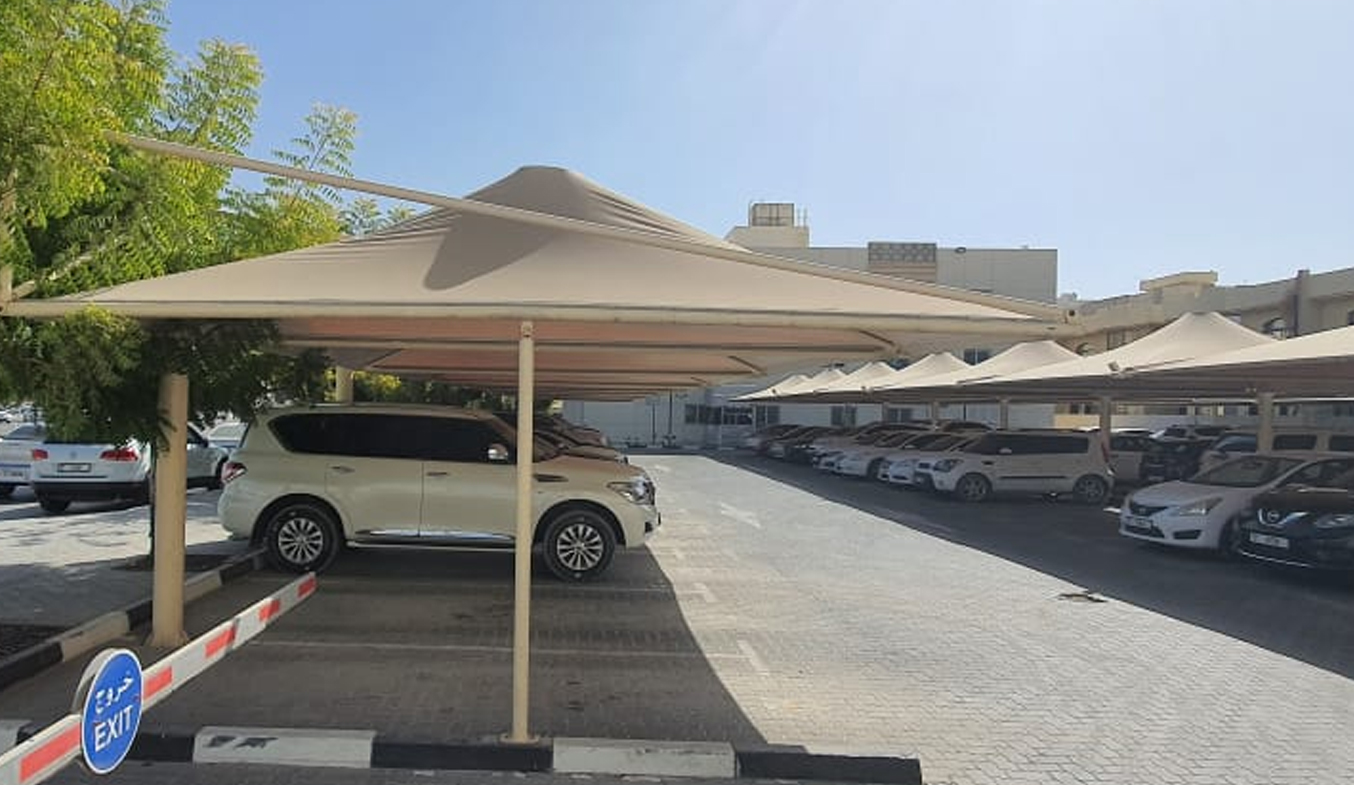 cantilever umbrella car parking shades in dubai