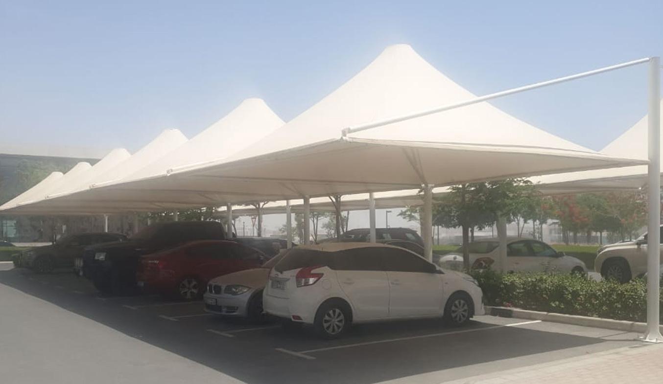 dubai car parking shades suppliers