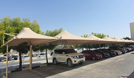 car parking umbrella shade suppliers in uae