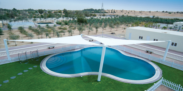 swimming pool shades for rent in dubai