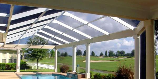 swimming pool shades enclosure in uae